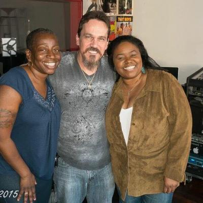 Saundra Williams & Anastasia René after laying down backing vocals to Got Two Reasons